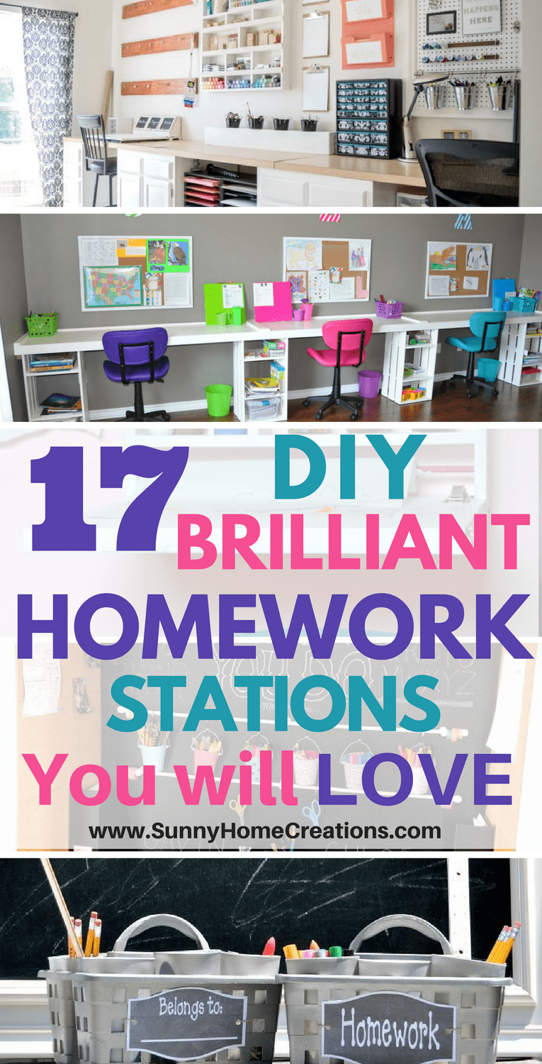17 DIY Brilliant Homework Stations You Will Love! Some great and fun ideas here!