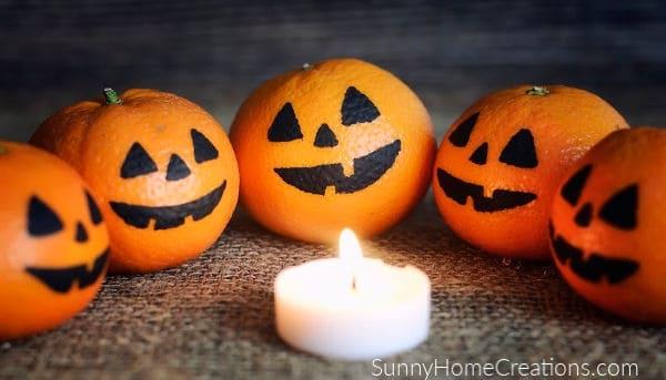 Mandarin Oranges with Faces