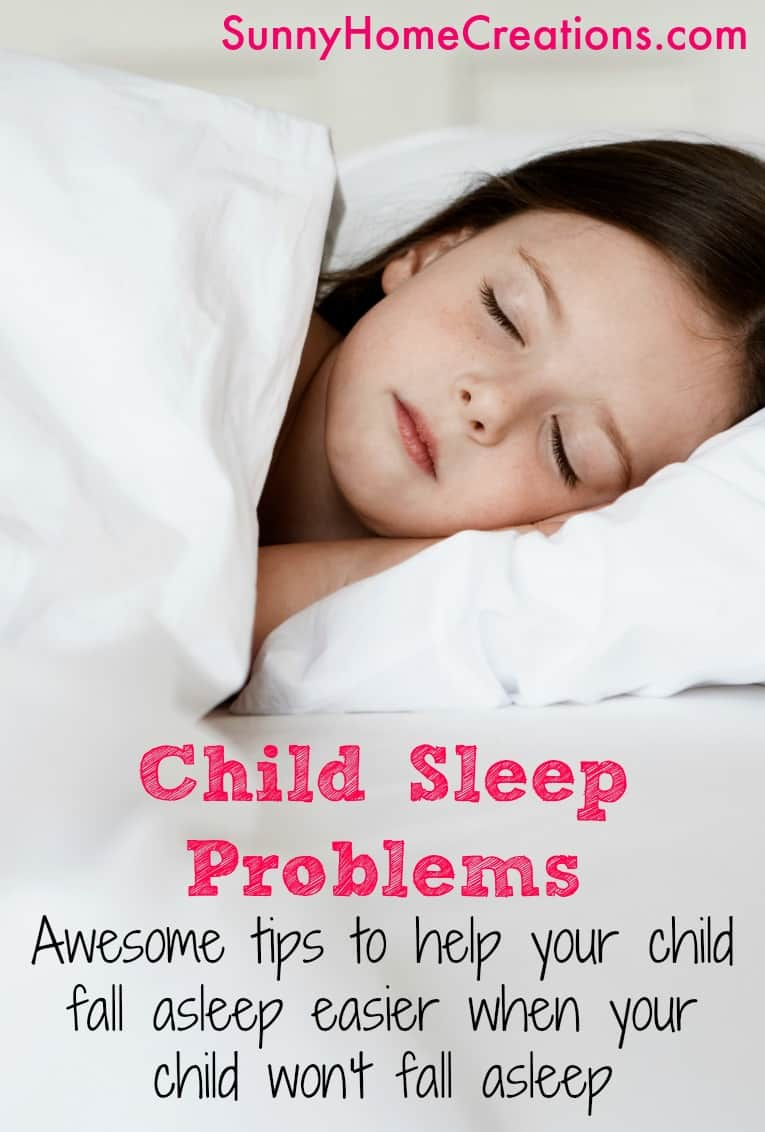 Child sleep problems. Awesome tips and natural sleep remedies for when your child has problems falling asleep.