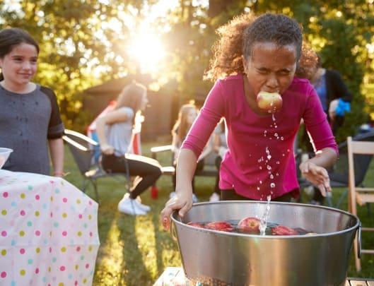 Bobbing for apples Halloween Game