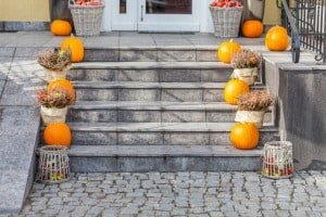 Front porch autumn home decor