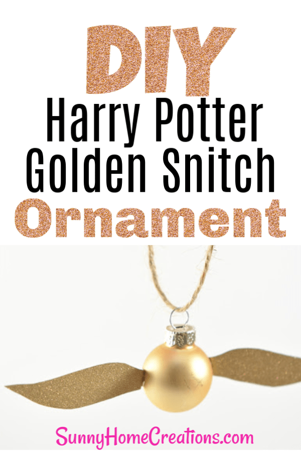 DIY Harry Potter Golden Snitch Ornament