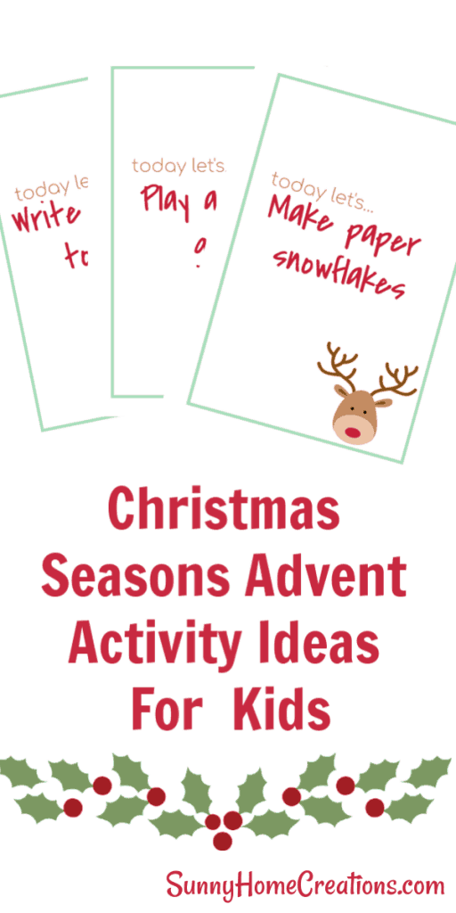 Christmas Seasons Advent Activity Ideas for Families. Free Printable! #printable #christmas