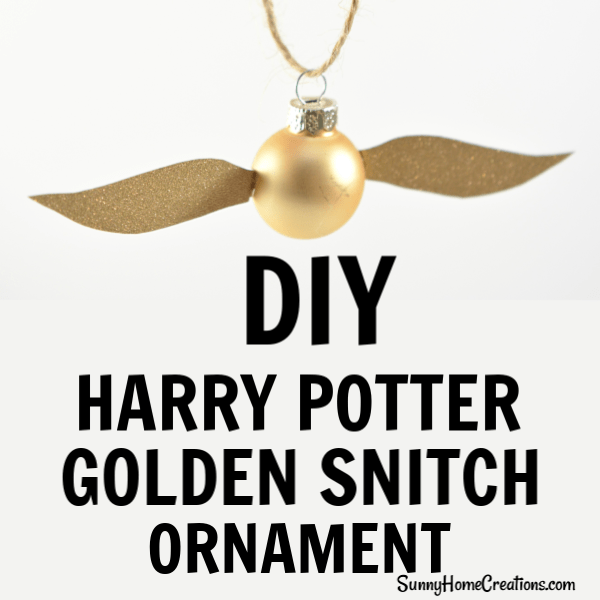 picture regarding Golden Snitch Printable referred to as Do it yourself Xmas Ornament - Harry Potter Golden Snitch Sunny