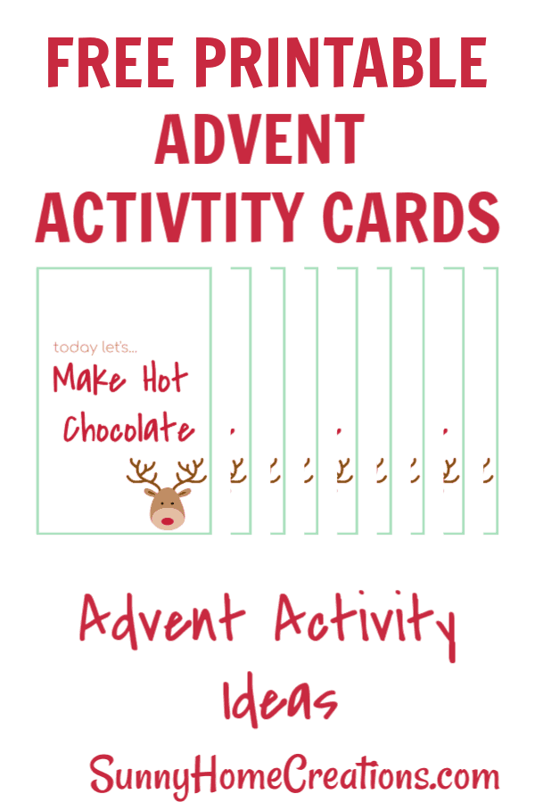 Free Advent Calendar Printable activity cards. Awesome fun and easy ideas for families.