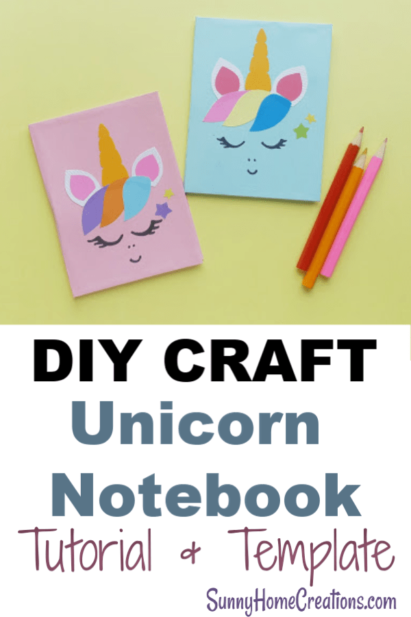 DIY Unicorn Craft Notebook. Awesome stationary craft for your kids. Simple and fun to create. #craft #unicorn #stationary