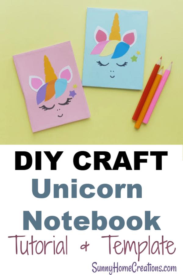 Diy Unicorn Notebook Simple Cute Craft Sunny Home Creations