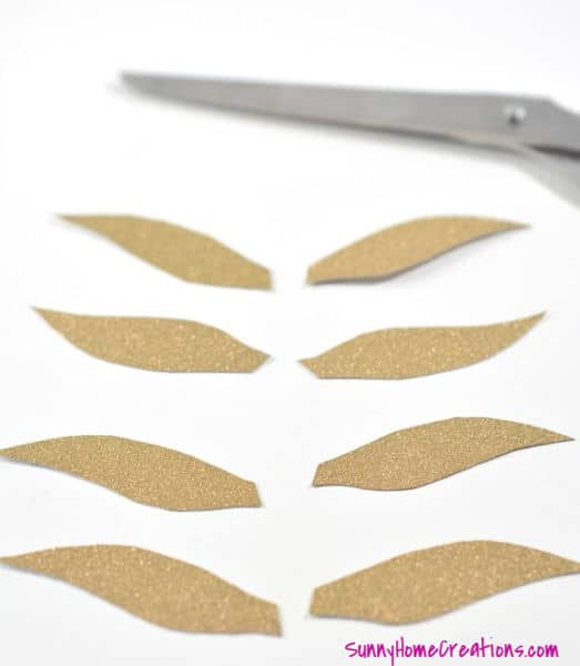 Golden Snitch Wings Cut Out of Cardstock