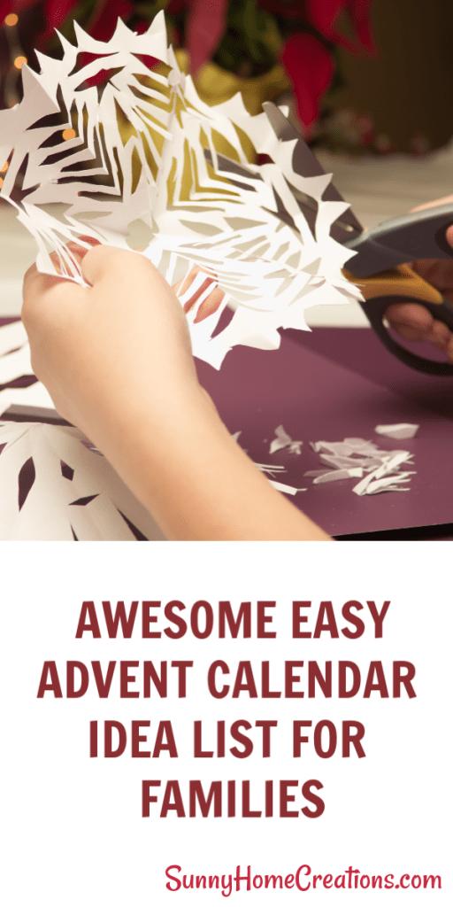 Awesome easy Advent Calendar Idea List for Kids. #adventcalendar #adventactiv