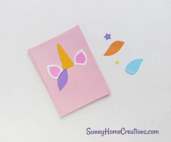 DIY School Supplies Unicorn Notebook Step 12