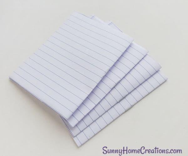 DIY Unicorn Notebook school supplies Step 3