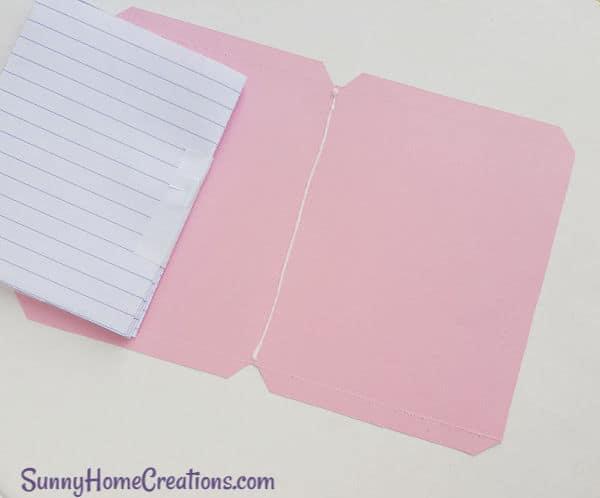 DIY School Supplies Unicorn Notebook Step 8