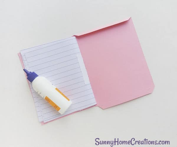 DIY School Supplies Unicorn Notebook Step 9