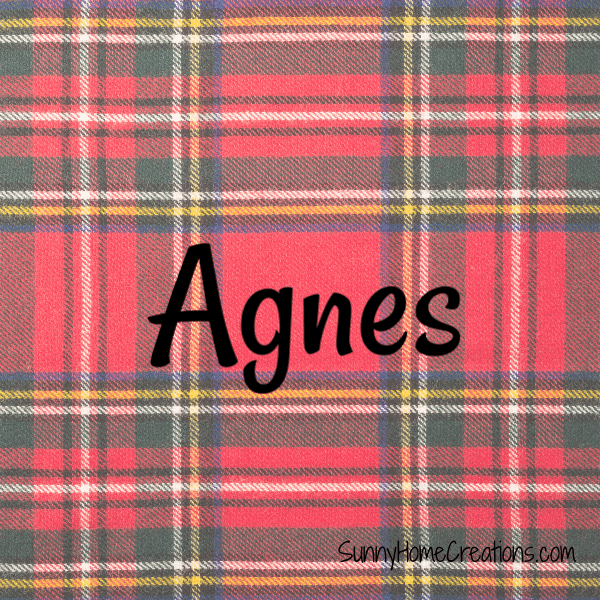 Agnes - Scottish Girl Names