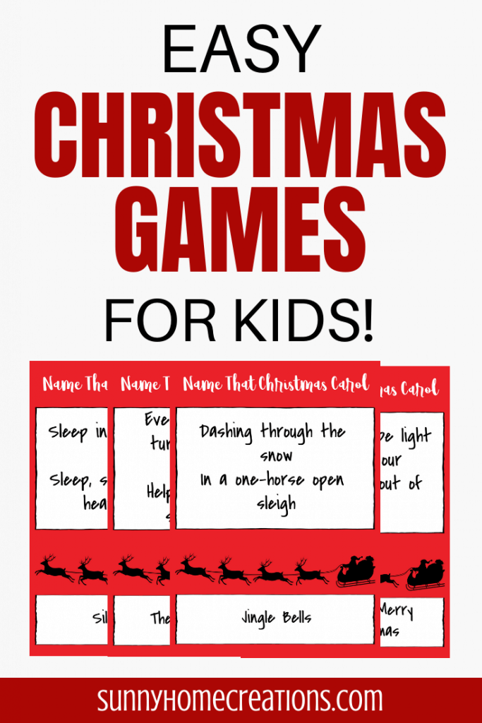 Easy Christmas Games or Kids