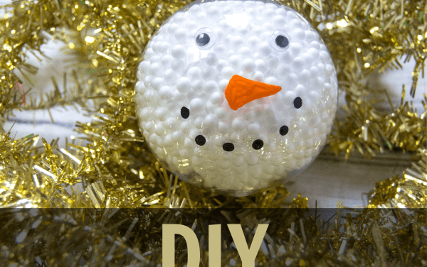Easy DIY Snowman Ornament for Kids