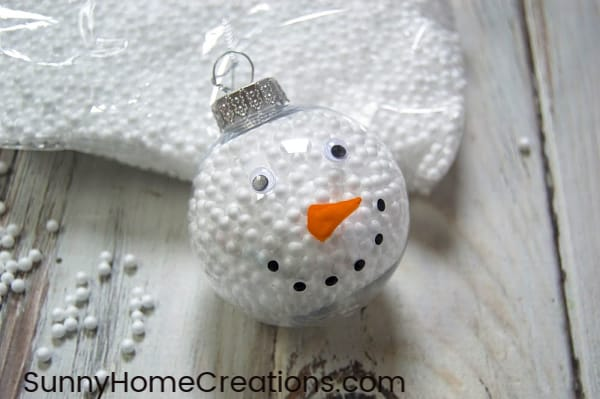 DIY Finished Easy Snowman Ornament