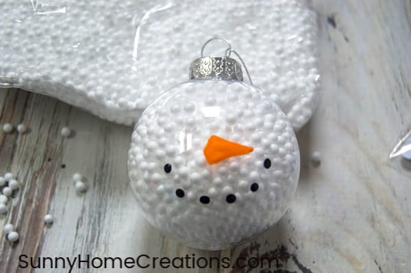 DIY Snowman Ornament mouth