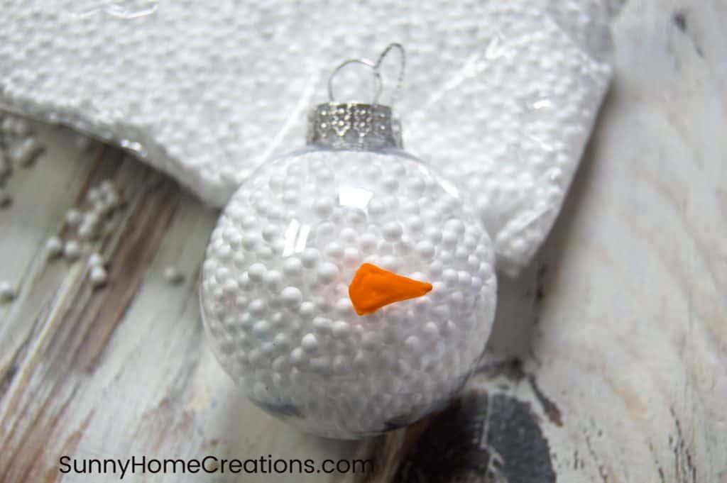 Easy Snowman Carrot Nose