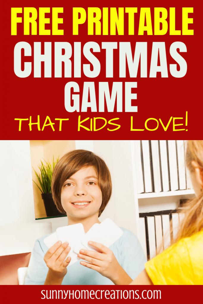 Free Printable Christmas game kids love