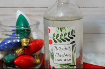 Easy DIY Holly Jolly Christmas Room Spray