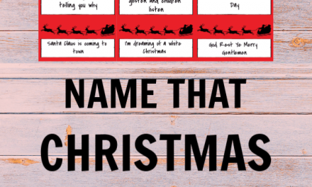 Name That Christmas Carol ~ Free Printable Game
