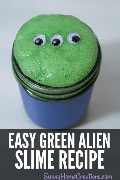 Easy green alien slime recipe