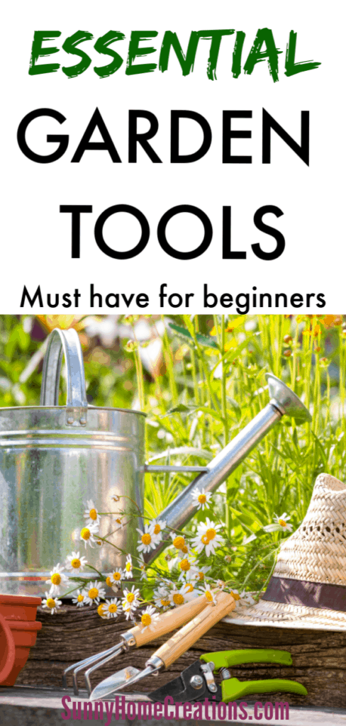 essential list of gardening tools
