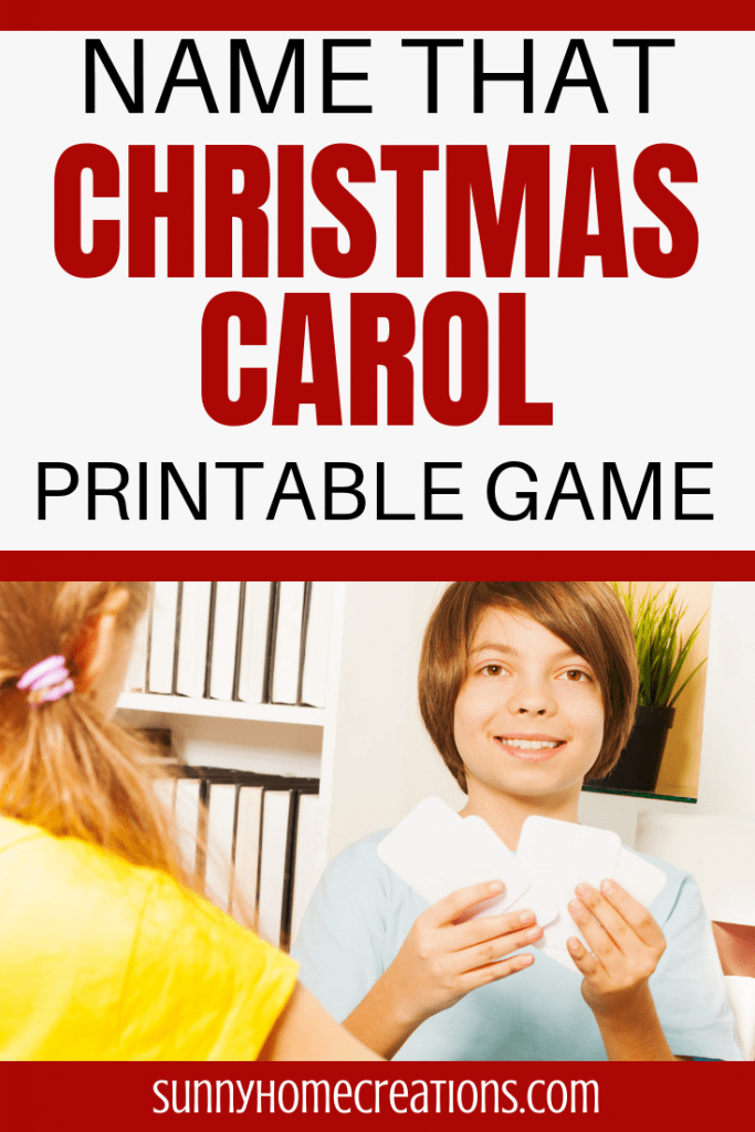 Name that Christmas Carol Printable Game