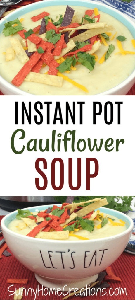 Instant Pot Cauliflower Soup Recipe
