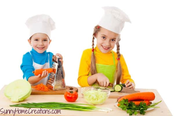 Two kids having fun cooking