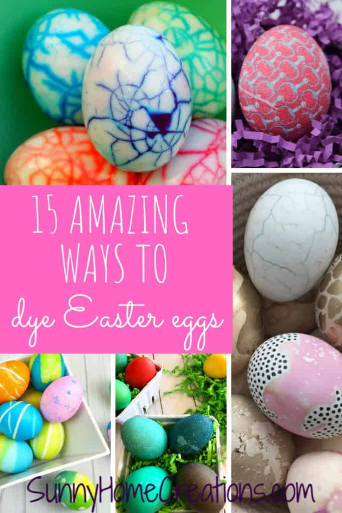 15 Amazing Ways to Dye Easter Eggs pin