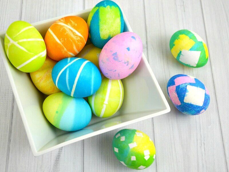 Patterned Easter eggs