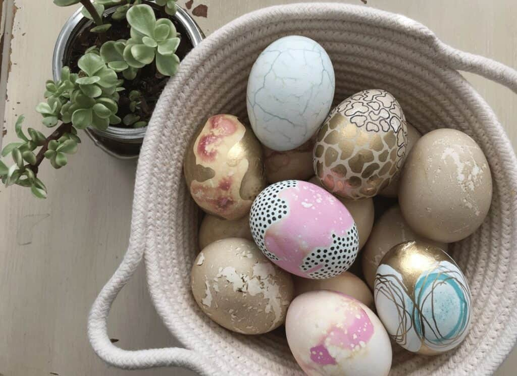Polish Naturally Dyed Easter Eggs