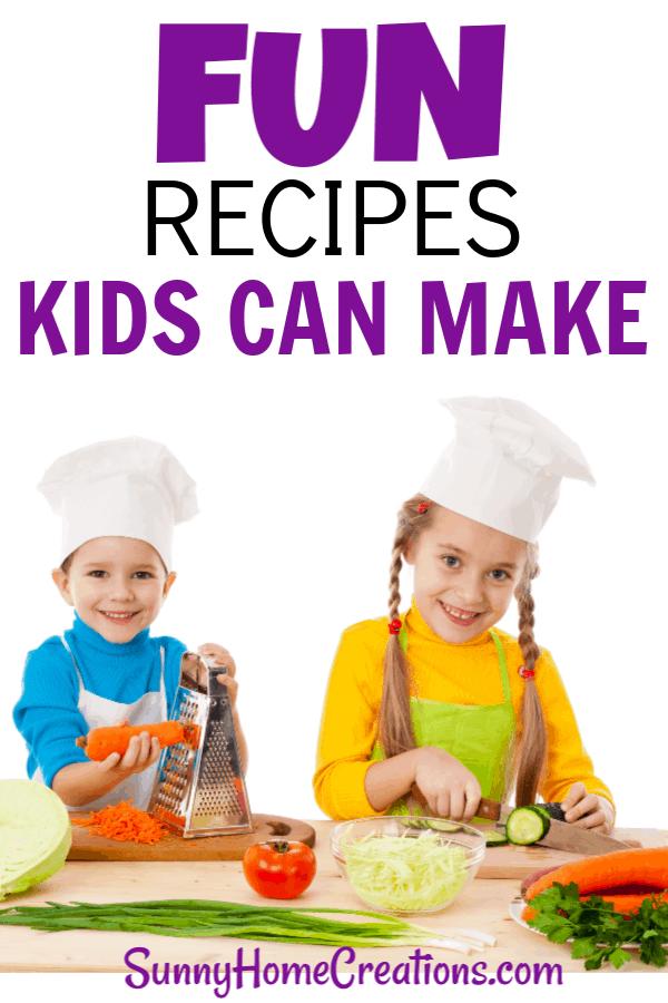 two kids making a fun recipe