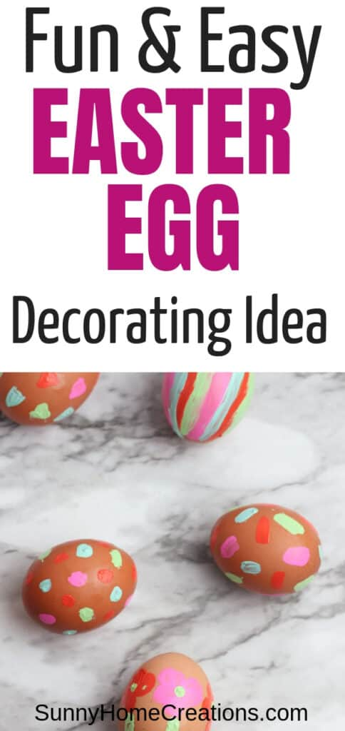Fun and Easy Easter egg decorating idea