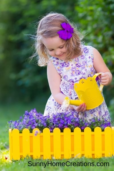 spring activity gardening with kids