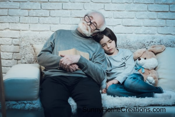 Spend night at grandparents