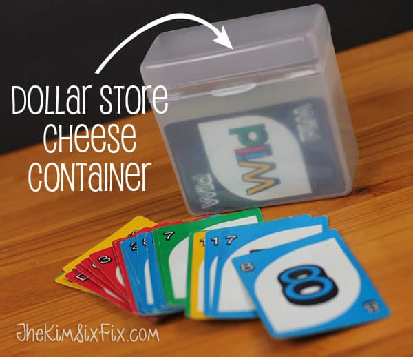 Cheese Container Card Storage