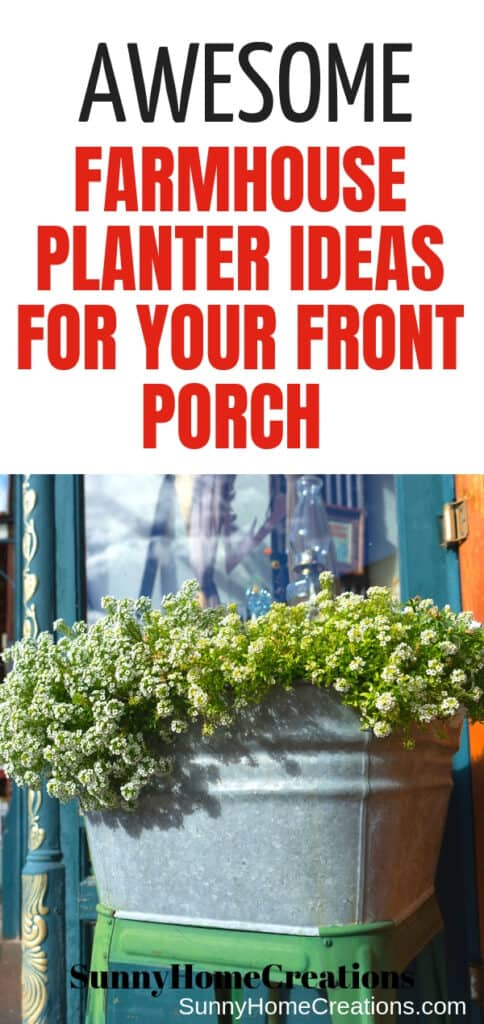 Awesome Farmhouse planter ideas for your front porch