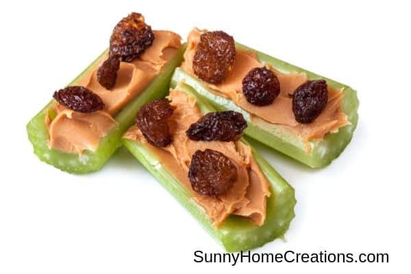 celery & peanut butter snack