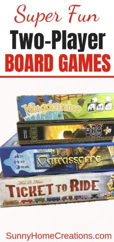 Super Fun Board Games for Two Players Pin Image