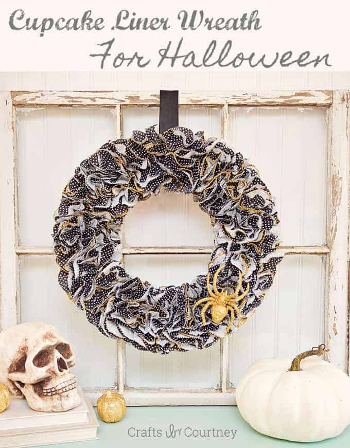 Halloween Cupcake Liner Wreath