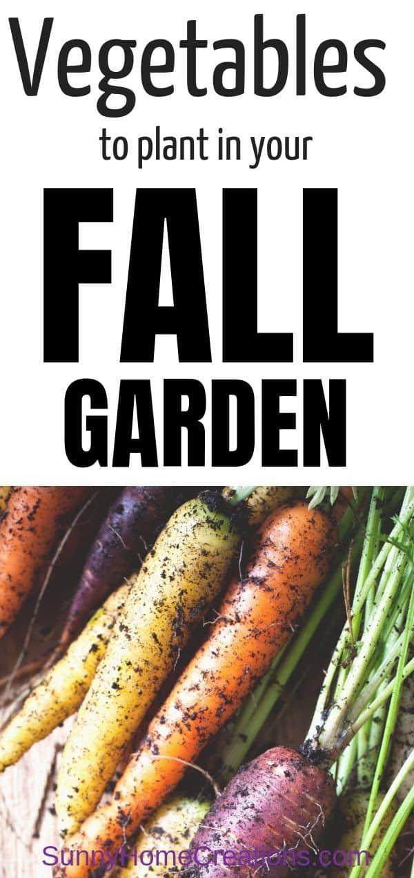 Fall Vegetable Garden Pin