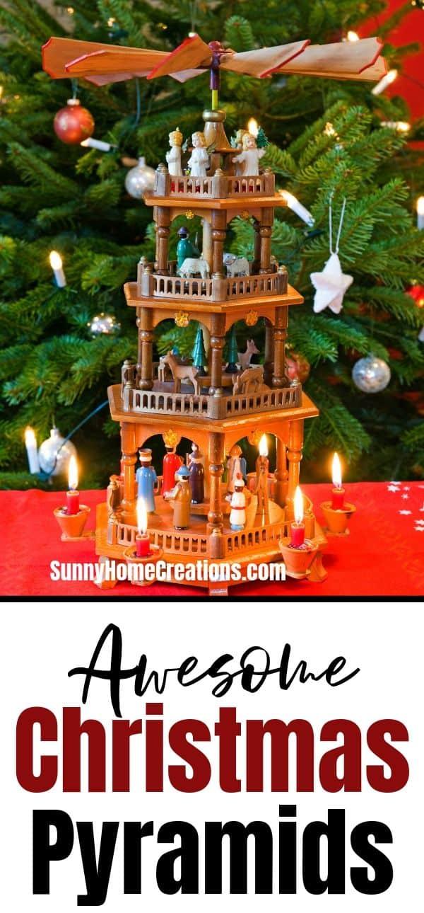 German Christmas Pyramid Pinterest Image
