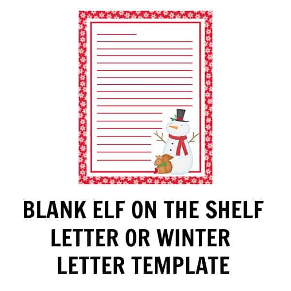 Blank Winter Letter Template