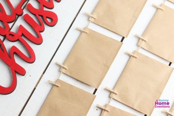 Hanging envelopes