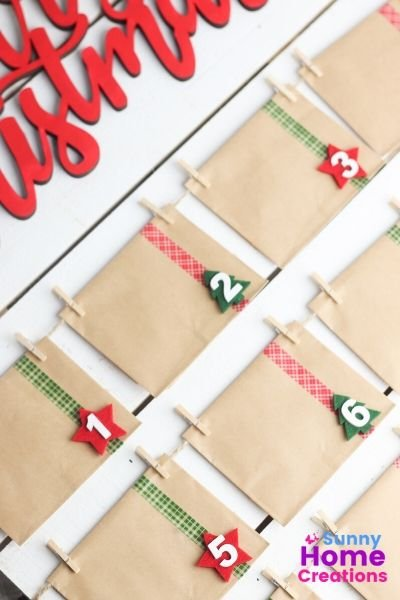 Envelopes with washi tape and numbers